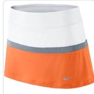 Nike Court Skirt Bright Mandarin/White/Dove Gray